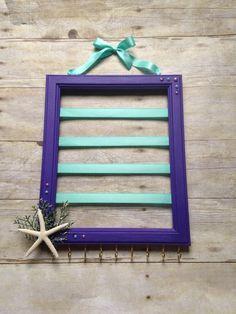 Purple and Teal hair bow holder Mermaid nursery decor hair