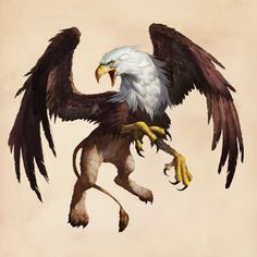 Hogwarts Quiz: Only A Potterhead Can Name All Of These Magical Creatures Griffon Tattoo, Griffin Mythical, Mythological Creatures, Dragon Art, Magical Creatures, Creature Design, Fantastic Beasts, Bald Eagle, Hogwarts