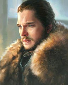 Jon Snow fanart #jonsnow #kitharington #gameofthrones