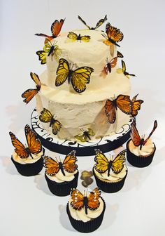 So pretty! Create edible butterflies by simply using a butterfly confectioners mold!