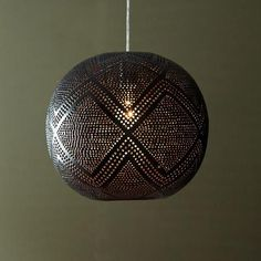Perforated Globe Pendant - Diamond