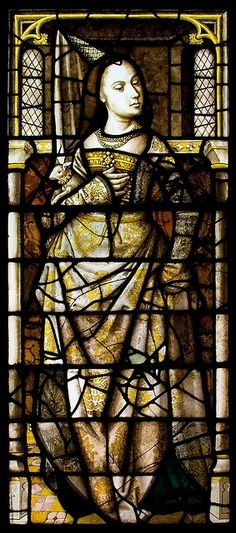 mary of burgundy. Late 15th C. Glass from the Chapel of the Holy Blood at Bruges.  By mym on flickr