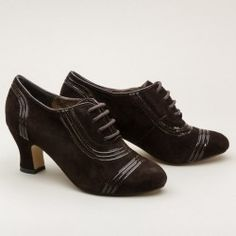 Claremont 1930s Oxfords by American Duchess (Brown)