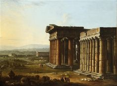 Paestum by Antonio Joli