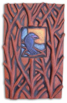 Hand Carved Ceramic Art Tiles and Fine Art Prints by NancyHopkinsDesigns Clay Tiles, Ceramic Clay, Ceramic Pottery, Pottery Art, Ceramic Techniques, Rabe, Art Nouveau, Arts And Crafts Movement, Tile Art