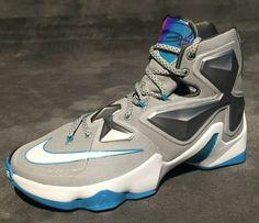 Nike LeBron 13 Grey Silver Blue
