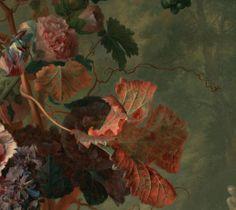 Jan van Huysum (detail) Dutch, 1722 Oil on panel 31 x 24 in. Dutch Still Life, Autumn Nature, Autumn Leaves, Baroque Painting, Night Garden, Impressionist Paintings, Dutch Artists, Beauty Art, Botanical Art