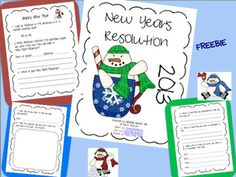 New Years Resolution - Every student needs a goal for the new year. Challenge your students to think about something they accomplished in the previous year, as well as set a new goal for 2014.