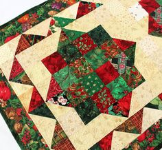 Christmas Jewels Quilt Table Runner by QuiltSewPieceful on Etsy