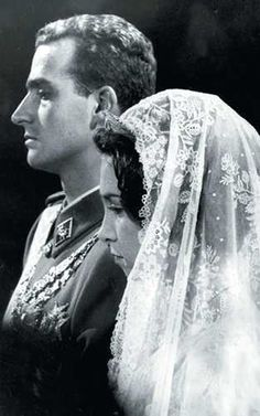 King Juan Carlos of Spain and Queen Sofia on their wedding day
