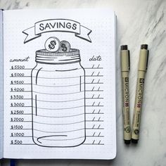 10 Bullet Journal Money Trackers To Manage Your Finances - : LOVE the. - 10 Bullet Journal Money Trackers To Manage Your Finances – : LOVE these! 10 Bullet J -