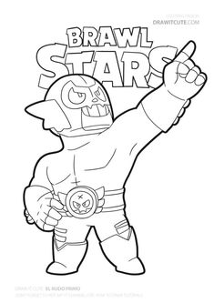 New El Rudo from Brawl Stars fanart by Draw it Cute. Star Coloring Pages, Boy Coloring, Coloring Pages For Boys, Cartoon Coloring Pages, Coloring Books, Free Coloring, Blow Stars, Super Easy Drawings, Profile Wallpaper