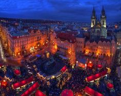 Christmas market in Prague, Czech Republic. One of my favorite places to visit.