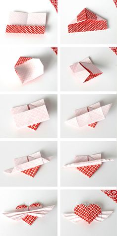 DIY Origami Heart Cupcake Topper   www.vitaminihandmade.com