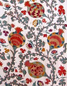 Embroidered Pomegranate, Suzani Pattern, Pomegranates Uzbekistan, Pomegranate Suzani 6 Jpg 390, Pomegranate Google