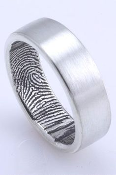 Fingerprint man's ring band