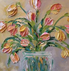 April Pink Painting by Jan Ironside