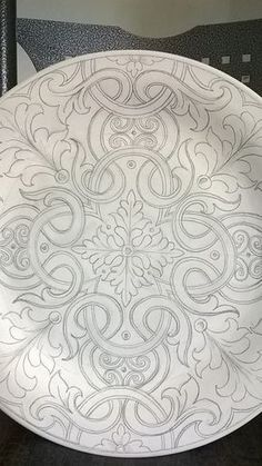 """""""This would be an incredible mosaic pattern"""", """" can use needle lace for it with tape"""" China Painting, Dot Painting, Pottery Painting, Ceramic Painting, Mosaic Patterns, Pattern Art, Mandala Design, Mandala Art, Quilting Designs"""