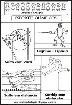 ESPORTES OLÍMPICOS PARA COLORIR, OLIMPÍADA 2016-Mistura de Alegria