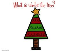 What is under the tree - listening for details FREEBIE