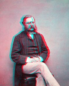 Stereoscopic portrait (anaglyph) by ookami_dou, via Flickr