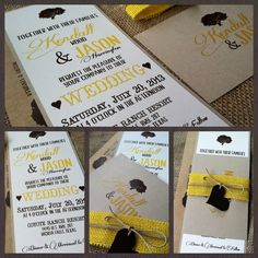 Wedding Invitations  Rustic Wood Collection  Modern by kandvcrafts, $5.00