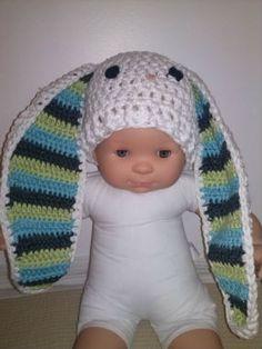 Bonnet lapin au crochet