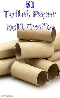 51 Toilet Paper Roll Crafts using toilet paper tubes or paper towel rolls for paper tube crafts! Great kids crafts and kids activities ideas!