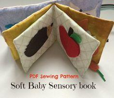 Sensory Baby Book Toy Sewing PDF Pattern is perfect if you want to make your own handmade baby gift; for new baby, baby shower, babys birthday or any other occasion. Make that perfect unique DIY baby gift all by yourself! With purchase you will get complete tutorial with step-by-step instructions and photos to show you how to complete your sensory cloth book designed for babies. Final book size, when sewed is approximately 5 x 5.5 and contains 12 pages in total. This pattern is suitable…