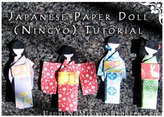 How to Make a Japanese Paper Doll DIY Paper Dolls DIY Crafts