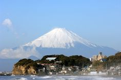 Kamakura - Clear view of Mount Fuji from Shichirigihama Beach!