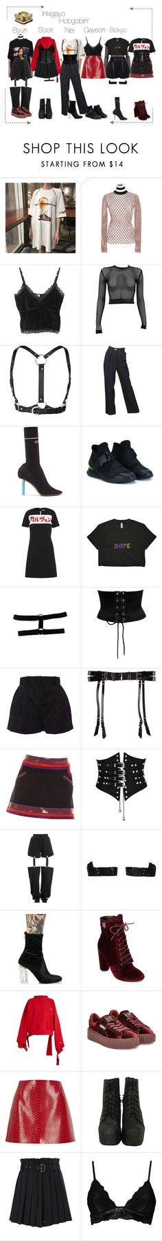 """""""Lunar (루나) 'Hobgoblin' Inkigayo (7th Win)"""" by lunar-official ❤ liked on Polyvore featuring Alexander Wang, PAM, Zana Bayne, Chanel, Vetements, Christopher Kane, Carven, Versace, Bordelle and Puma"""