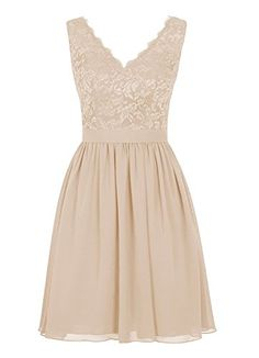 Angel Formal Dresses Women's V Neck Lace Dress Bridesmaids Dress Short Prom Dress(10,Champagne) Angel Formal Dresses http://www.amazon.com/dp/B01BY2F6M4/ref=cm_sw_r_pi_dp_k317wb01A6EDZ