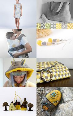 Yellow and grey by Roberta on Etsy--Pinned with TreasuryPin.com
