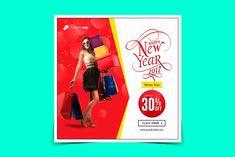 New year sale Instagram banner by Nisha Mehta Droch on @creativemarket
