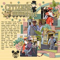 Citizens of Main Street - SS #156  Credits:   Template by Little Green Frog Designs - Just Four You - Template 4  Walking Down Mainstreet by Kellybell Designs and Keystone Scraps  Simple Dates Volume 1 by Kellybell Designs  LD Delightful Font