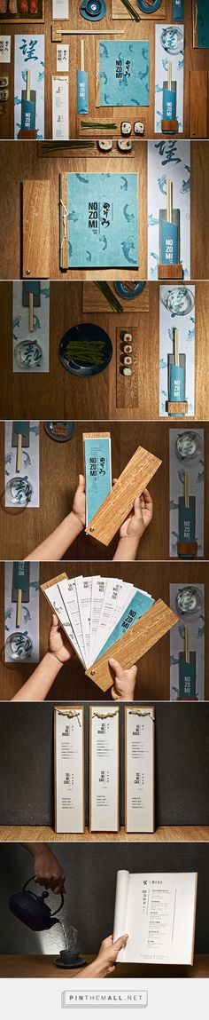 Nozomi Sushi Bar Branding on Behance - created via https://pinthemall.net