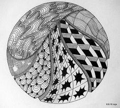 More zentangle :) doodles circles медитативные узоры, график Zentangle Drawings, Doodles Zentangles, Zentangle Patterns, Art Drawings, Zantangle Art, Pen Art, Zen Doodle, Doodle Art, Manga Drawing