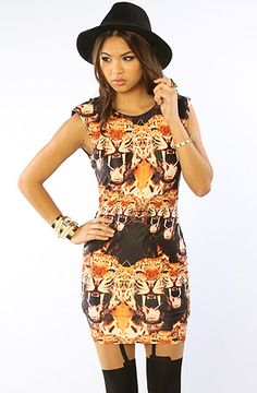 The Hello Tiger Dress in Wild by Backstage