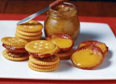 Summer Sausage S'mores - This recipe is a great appetizer to serve while waiting for those great Johnsonville Brats to finish grilling. Both appetizer and main course share the grill and the glory! No Cook Appetizers, Savory Snacks, Yummy Snacks, Grilling Recipes, Snack Recipes, Cooking Recipes, Yummy Food, Sausage Recipes