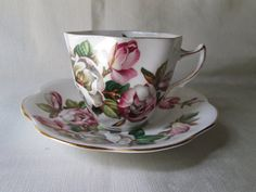 Vintage English Bone China Tea Cup and Saucer by teacupsfromsharon, $15.00