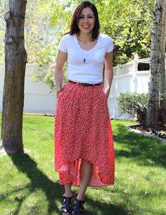 DIY high-low skirt! love!