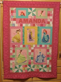 A Princess quilt for a Princess.