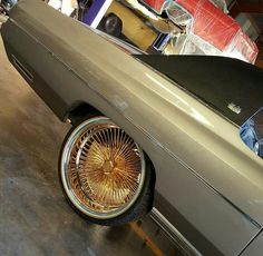 Dayton Rims, Donk Cars, Car Shoe, Chevy Muscle Cars, Rims And Tires, Cadillac Fleetwood, Old School Cars, Weird Cars, Car Wheels