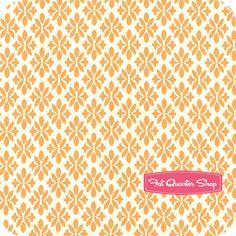 Marmalade Cotton Tangerine on Cream Sugar Yardage SKU# 55056-13 Bonnie and Camille for Moda fabric