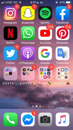 My organizated iPhone 🌙 Organize Phone Apps, N Netflix, Apple 5, Photo Games, Instagram And Snapchat, Homescreen, Wallpapers, My Favorite Things, Iphone App