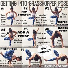 いいね!638件、コメント20件 ― Roxanne Ganさん(@roxanne_yoga)のInstagramアカウント: 「. There are many ways to get into Grasshopper pose & here is one from standing. This arm balance…」