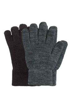 9129d8f0bed4 2-pack gloves H m Fashion, Fashion Online, Womens Fashion, Knitted Gloves,
