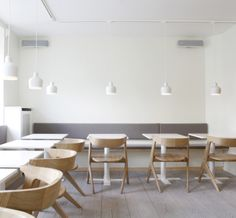 Slab Chairs by Tom Dixon at Cafe Aamanna in Denmark.