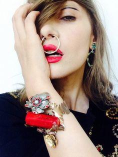 Iulia Albu a lansat o colectie de bijuterii exclusiviste! Septum Ring, Drop Earrings, Jewels, Handmade, Beauty, Fashion, Moda, Hand Made, Jewerly
